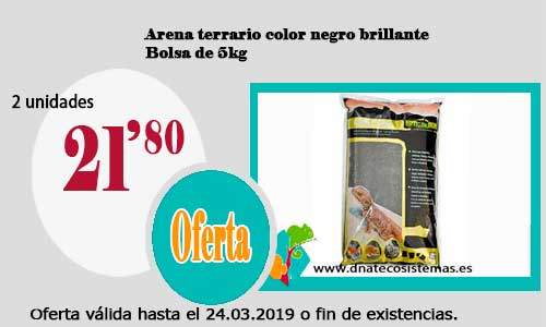 Arena terrario color negro brillante